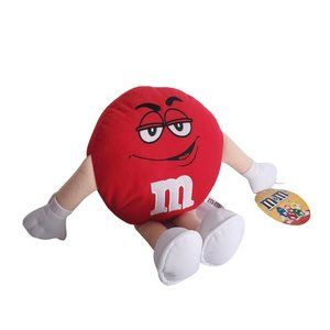 Red M&M Plush Character Stuffed Toy